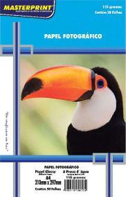 Papel Fotográfico Inkjet A4 Glossy 115G - MASTERPRINT