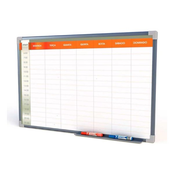 Quadro Branco Planejamento Semanal 60x40cm - Stalo