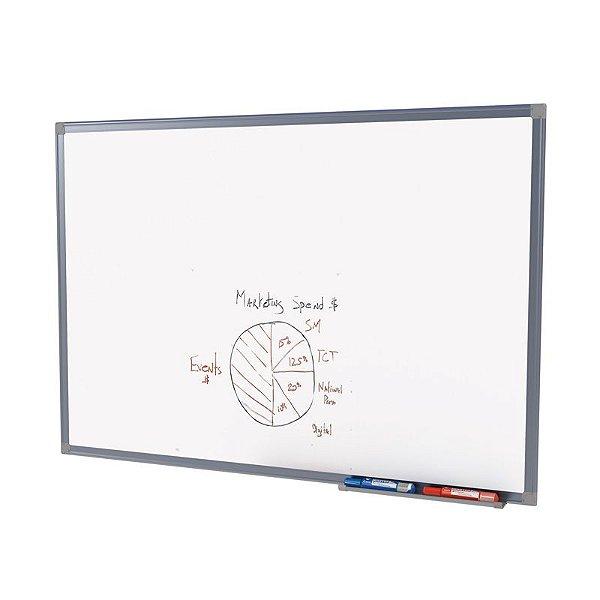 Quadro Branco Aluminío  Fórmica Lisa 120x090cm - Stalo