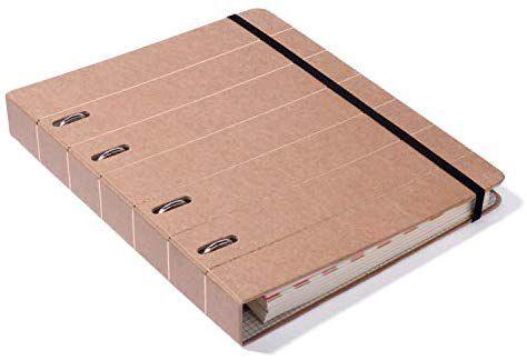 Caderno Argolado Pautado Kraft - Cicero