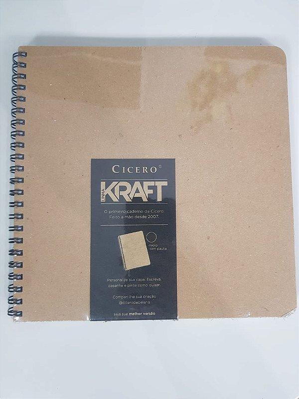 Caderno Kraft Sem Pauta - Cicero