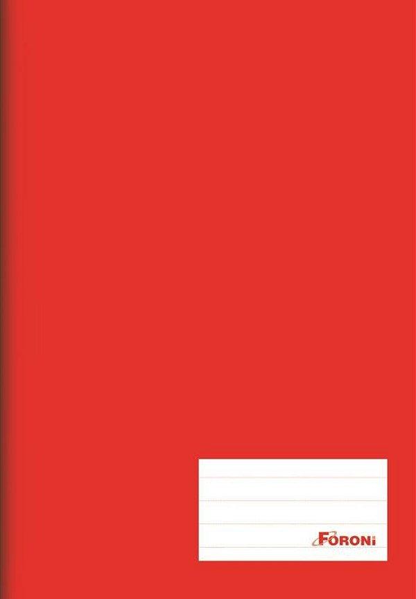 Caderno Brochura 1/4 Vermelho 96 folhas - FORONI