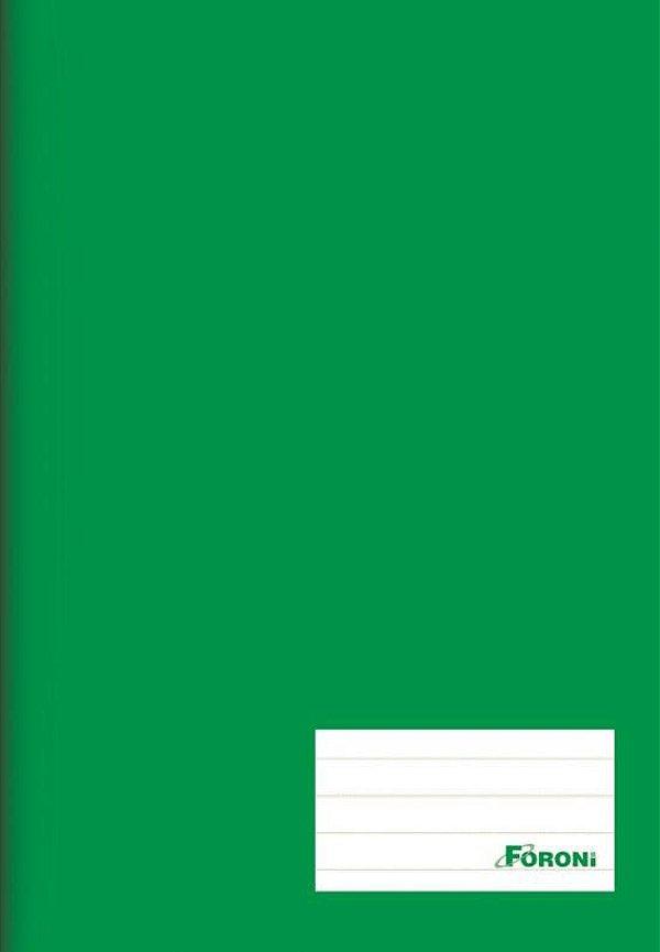 Caderno Brochura 1/4 Verde 96 folhas - FORONI