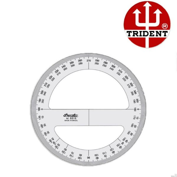 Transferidor 36° Acrílico - Trident