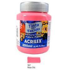 Tinta Tecido Fosca 250ml Coral - Acrilex