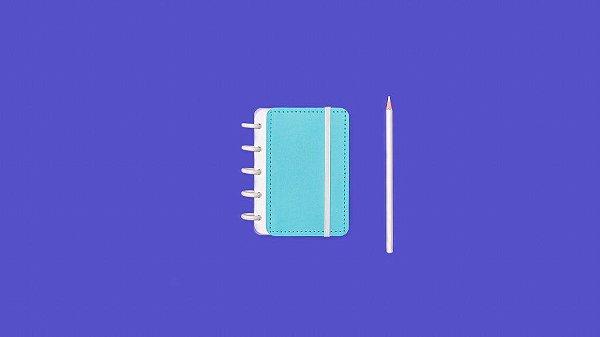 Caderno Azul Celeste Inteligine - Caderno Inteligente