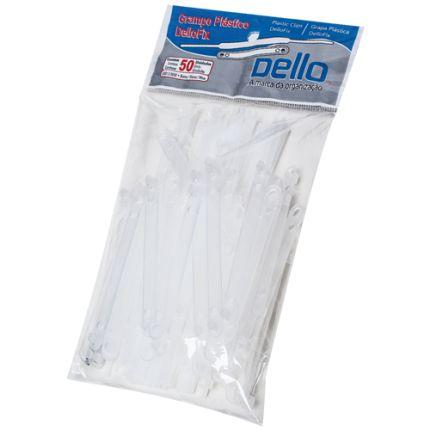 Grampo Trilho Plastico Branco C/50 Jogos - Dello