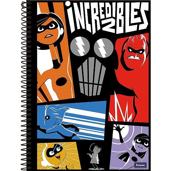 Caderno Brochurão Os Incríveis 1M - FORONI