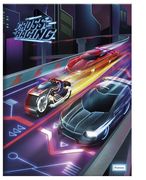 Caderno Pedagógico Quadriculado Cross Racing - Foroni