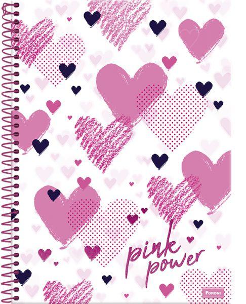 Caderno Uni.Cd.Pink Power 15 Matéria - Foroni