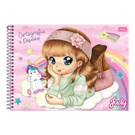 Caderno Cartografia C/D Judy 96 Fls - Foroni