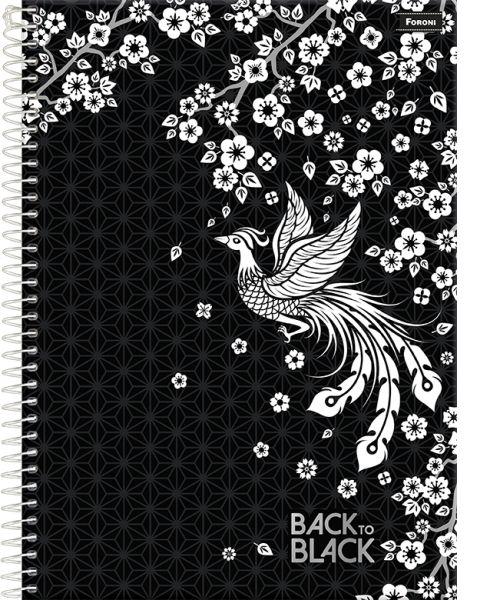 Caderno Back To Black 1M - FORONI
