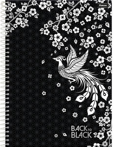 Caderno Universitário Back To Black 10M - Foroni