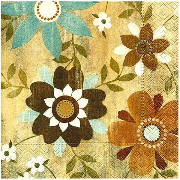 Guardanapo Para Decoupage Flores Em Madeira - Toke E Crie