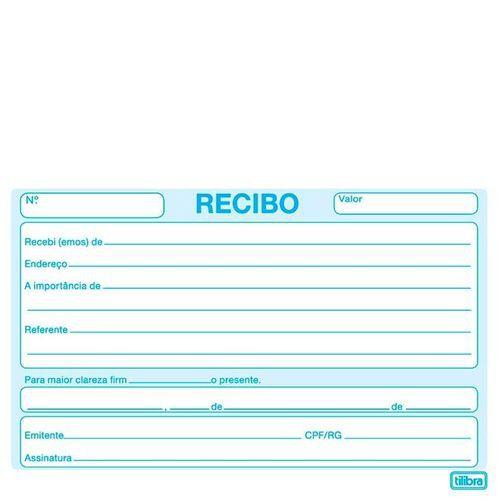Recibo Comercial S/C 50F - Tilibra