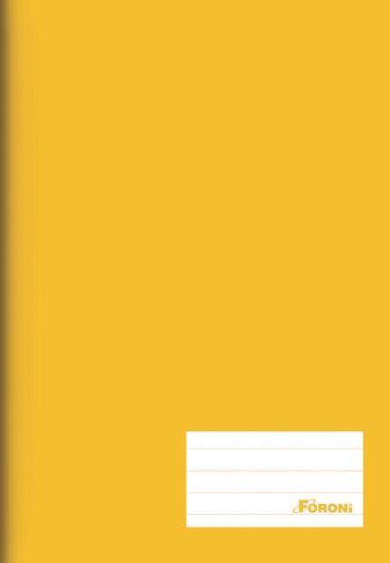 Caderno Brochura Amarelo 96 Fls - FORONI