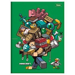 Caderno Brochurão C/D Costurado Minecraft 48fls