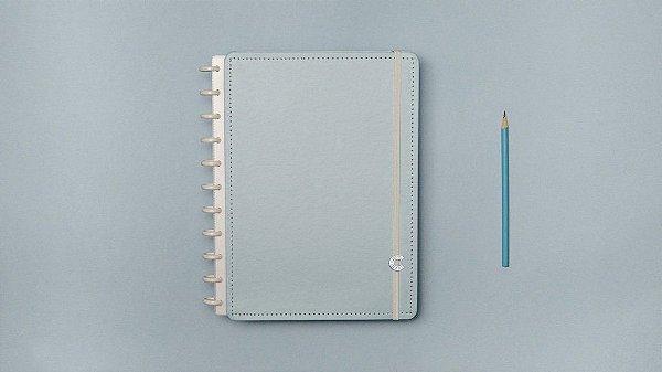 Caderno Azul Pastel - Grande - Caderno inteligente