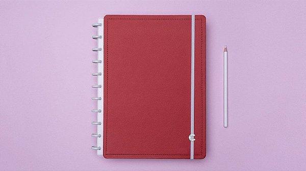 Caderno Vermelho Cereja - Grande - Caderno inteligente