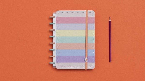 Caderno Arco-Iris Pastel - A5 - Caderno Inteligente