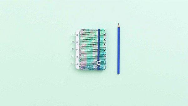 Caderno Azul Holografico  Inteligine - Caderno inteligente