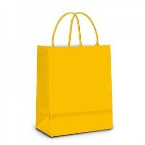 Sacola Papel Amarelo Bebe M 26x19,5x9,5