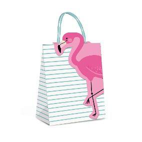 Sacola Papel C/Fechamento Flamingo M 26x19,5x9,5