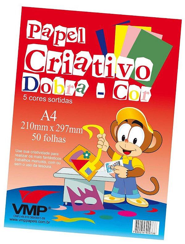 Papel Criativo Dobracor A4 50fl