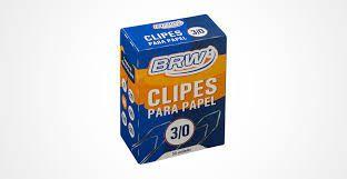 Clipes Para Papel 3/0 C/ 50 Unidades - Brw
