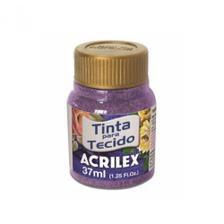 Tinta Tecido Glitter Violeta 37ml - Acrilex