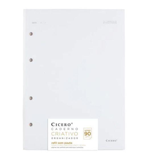 Refil Caderno Criativo 90g Sem Pauta - Cícero