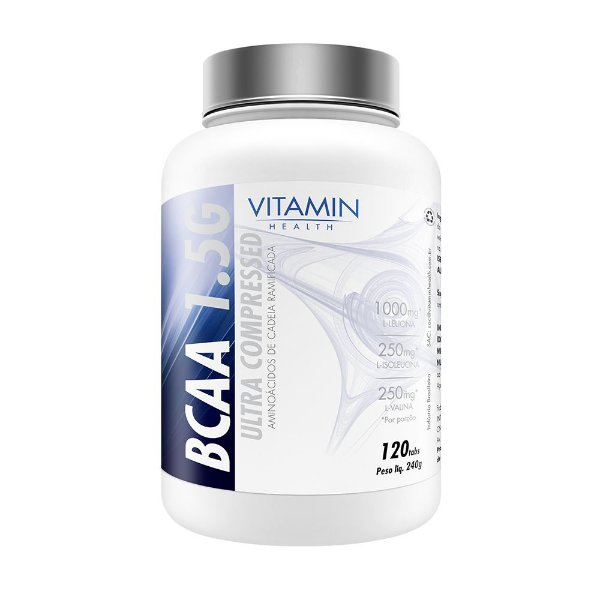 BCAA 1.5G ULTRA COMPRESSED de 120 Tabletes