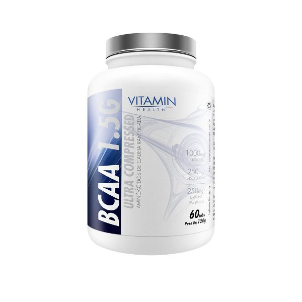 BCAA 1.5G ULTRA COMPRESSED de 60 Tabletes