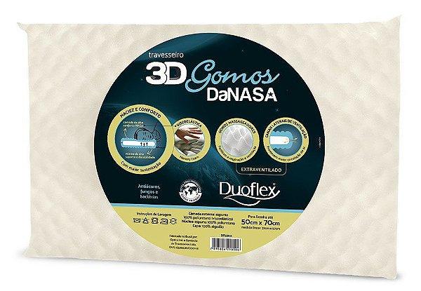 Travesseiro 3d Danasa Gomos - Duoflex