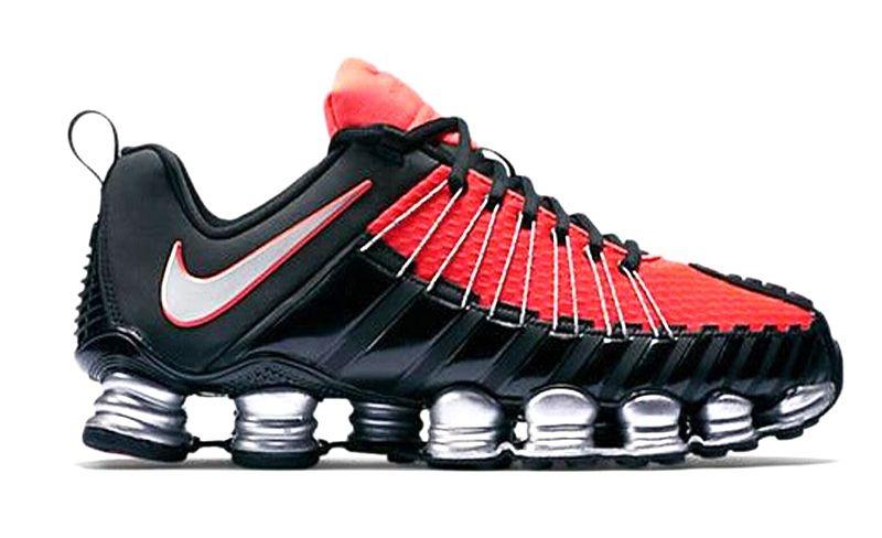 Tenis Nike Total Shox Preto e Laranja  44d156e6c