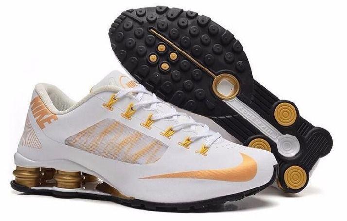 Nike Shox R4 Superfly Branco e Dourado