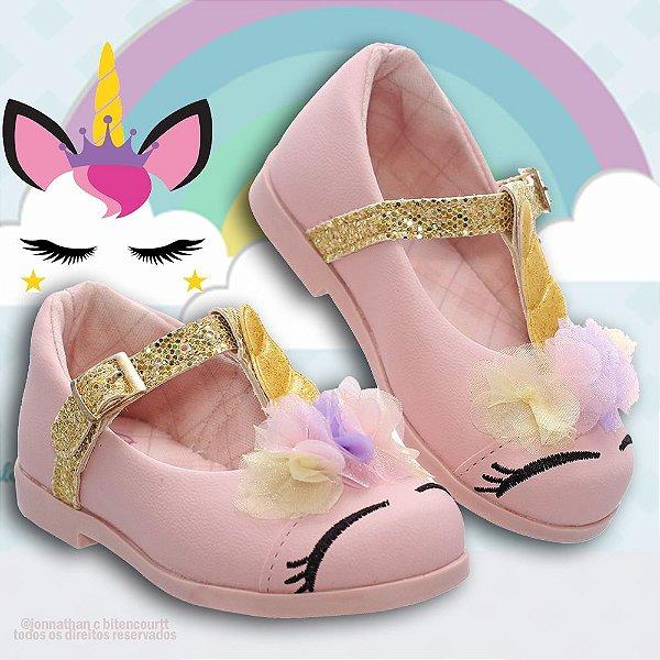Sapatilha Infantil unicornio rosa