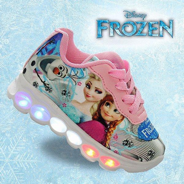 Tenis Infantil Meninas com Led Frozen