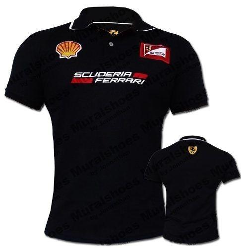 Camisa polo Ferrari preta - AmericanTennis - Americantennis - tenis ... 0a9fbbe0159