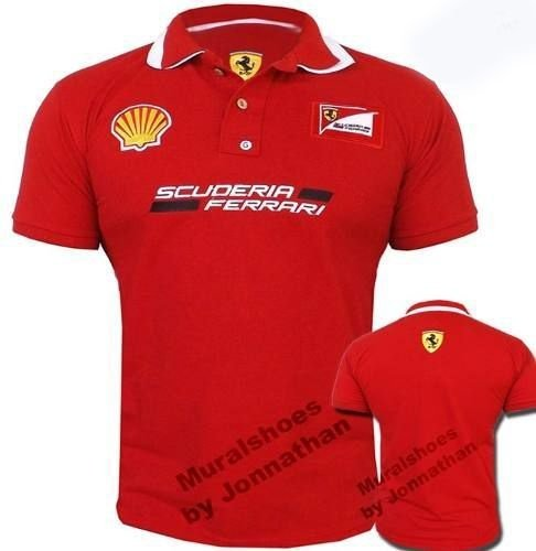 Camisa Polo Ferrari - vermelha