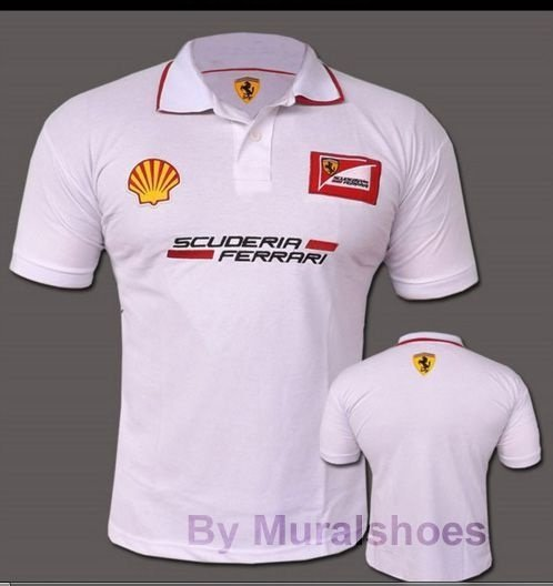 Camisa polo Ferrari branca - AmericanTennis - Americantennis - tenis ... 6f174cb1b02
