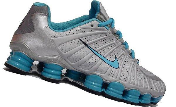 Nike Shox TLX 12 molas - Prata / Azul