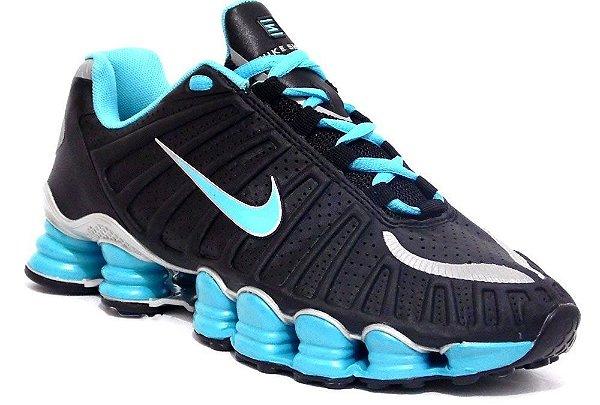 Nike Shox TLX 12 molas - Preto / Azul