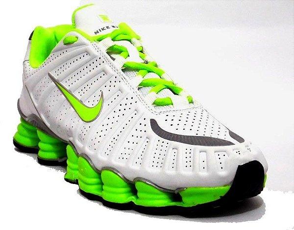 Nike Shox TLX 12 Molas - Branco / Verde