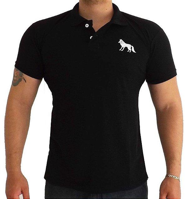 Camisa Polo Acostamento preta