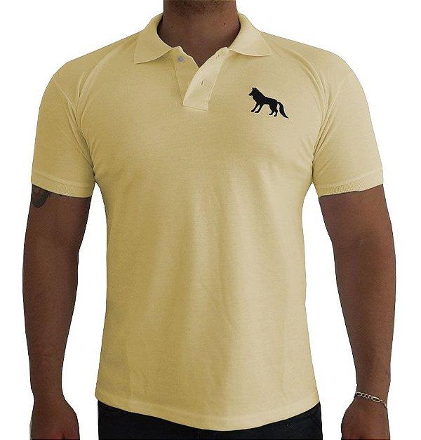 Camisa Polo acostamento amarela