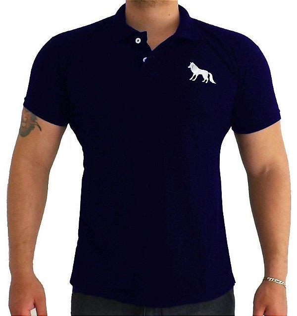 Camisa Polo Acostamento azul marinho