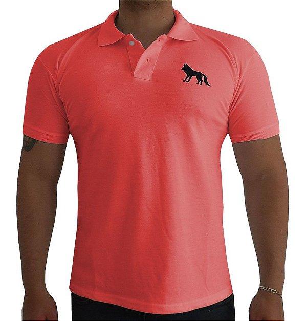 Camisa Polo Acostamento goiaba