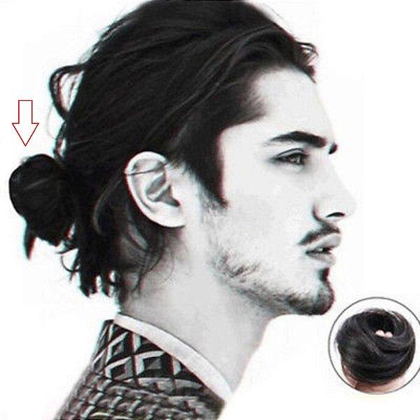 Coque Samurai Homens Rabo De Cavalo Cabelo 100% Humano