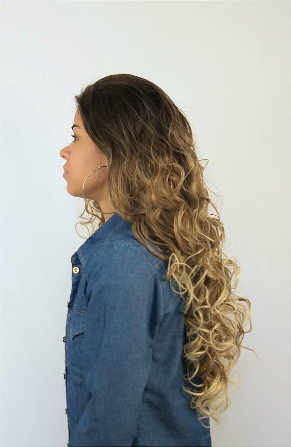 Peruca Mulher Lace Front Fibra Raiz Natural Loiro Ombre hair
